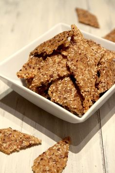 Quinoa-Brown-Rice-Sesame-Crackers  Like Mary's Gone Crackers!!! These look good. This is a COOKED food recipe. For raw, dehydrated, check out my Raw Board..