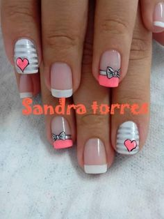 Uñas para mi prima mariet Cute Nail Art, Cute Nails, Pretty Nails, New Nail Art Design, Nail Art Designs, Hair And Nails, My Nails, Grey Nail Polish, Nails 2015