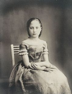 +~+~ Antique Photograph ~+~+   Somber girl.