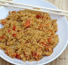 Quinoa and Garden Fresh Tomatoes. Can't wait to make this!!