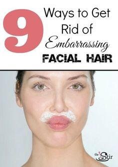 SUCH good tips on getting rid of facial hair without expensive laser treatments!