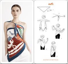 Ways to wear a sarong pareo i think these instructions - Hermes tuch binden ...