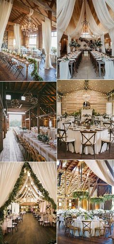 trending country barn wedding reception ideas with drapery wedding drapery 20 Country Rustic Wedding Reception Ideas for Your Big Day - EmmaLovesWeddings Country Barn Weddings, Country Wedding Decorations, Wedding Reception Decorations, Reception Ideas, Wedding Ideas, Wedding Country, Barns For Weddings, Barn Wedding Inspiration, Country Barns
