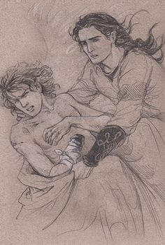 Fingon with Maedhros, as Thorondor carries them back to Lake Mithrim. These two break my heart.