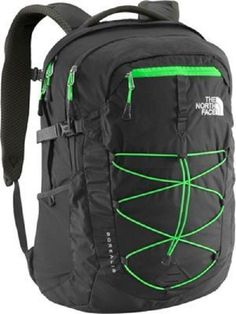 The North Face Unisex Borealis Backpack by The North Face. The North Face Women's Borealis Backpack 2015 Model Asphalt Grey/Krypton Green. Mesh Backpack, Laptop Backpack, Backpack Bags, North Face Backpack Borealis, North Face Borealis, Green Backpacks, School Backpacks, North Face Rucksack, Bags