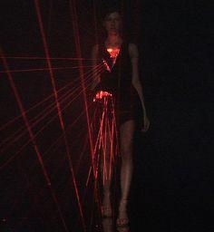 hussein chalayan laser dress