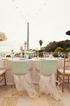 fun bride and groom chairs  Photography by shewanders.com, Event Design by sittinginatreeeve...