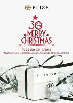 Khuyến mãi Thời trang Elise giảm giá 30% nhân dịp Noel 2014