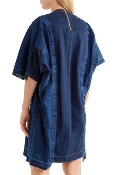 Blue denim Zip fastening along back 100% cotton Hand wash Made in Japan