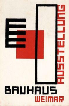 Bauhaus exhibition postcard by Kurt Schmidt – 1923
