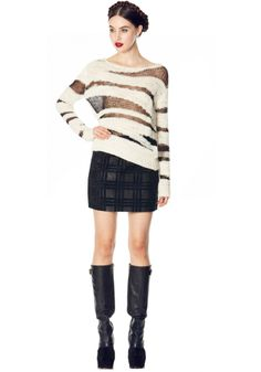SPARROW MULTI YARN CREWNK | Alice + Olivia |