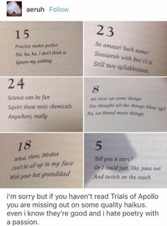 Place Quotes, Trials Of Apollo, Ignore Me, Life Memes, Book Authors, Percy Jackson, Funny, Hilarious, Poetry
