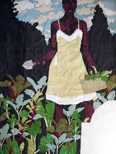 billie zangewa, constant gardener, silk on silk, cm, 2014 African American Artist, American Artists, Textile Sculpture, Textile Art, Lorraine, Contemporary African Art, Textiles, Feminist Art, Black Artists