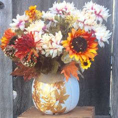 Fall Decor, White Pumpkin Centerpiece,  Fall Centerpiece, Fall Pumpkin Floral Arrangement. $30.00 White Pumpkin Centerpieces, Pumpkin Floral Arrangements, White Pumpkins, Fall Pumpkins, Farmhouse Homes, Home Decor Items, Fall Decor, Etsy Seller, Handmade Items