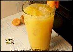 Carrot Juice with Sweetened Condensed Milk - Jamaican food JAMAICAN DRINKS - http://jamaicandinners.com MiQuel Marvin Samuel - Jamaican Drink Food