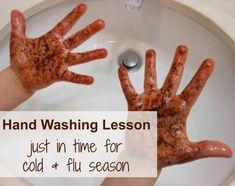 Hand washing FUN (and learning)
