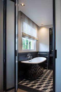 marionderiot.com - architecte d'intérieur - salle de bain noir&blanc carreaux de ciment Carocim