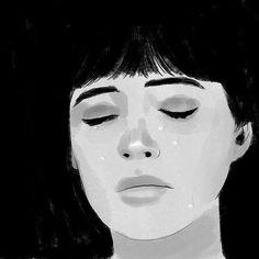 sad day; tried to draw Anna Karina in Vivre Sa Vie, 1962
