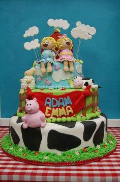 twins farm themed birthday party
