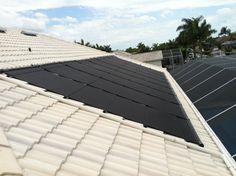 Terracotta Colored Heliocol Solar Pool Heating Panels