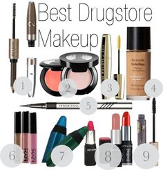 The Absolute Best Drugstore Makeup - These are all really good! Except I hate cream blush so I haven't tried those and don't plan on it. I'll just take her word for it. :)