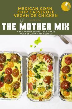 not nutritious - plant-based + vegetarian recipes for everyone A deliciously cheesy, mildly spicy Mexican-inspired casserole with vegan or omnivore options.A deliciously cheesy, mildly spicy Mexican-inspired casserole with vegan or omnivore options. Beef Recipes, Vegetarian Recipes, Chicken Recipes, Healthy Recipes, Vegan Scalloped Potatoes, Vegan Ricotta, Compote Recipe, Vegan Cheese Sauce, Vegan Baking