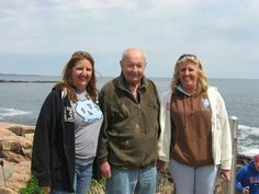Uncle Dan and cousins; from left to right Theresa and Sharon