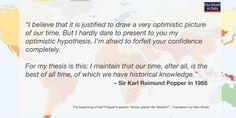 Bildresultat för karl popper quotes open society Karl Popper, I'm Afraid, Dares, Thesis, You And I, Believe, Quotes, Quotations, You And Me