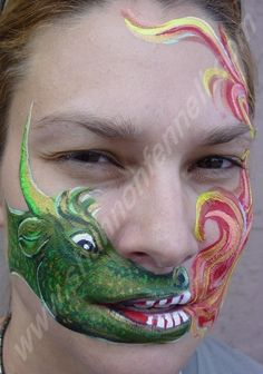 facepainting dragon. Maybe one day with lots of practice