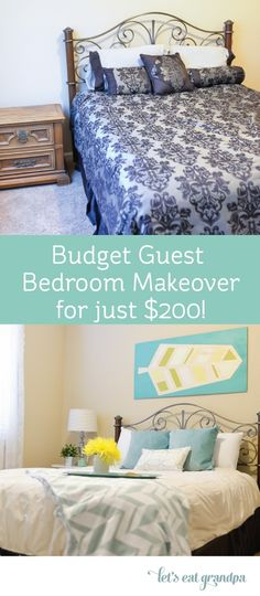 I can always use a guest room makeover! Especially a cheap one since we just remodeled the rest of the house.