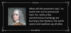 sanctimonious quotes voltaire - Google Search