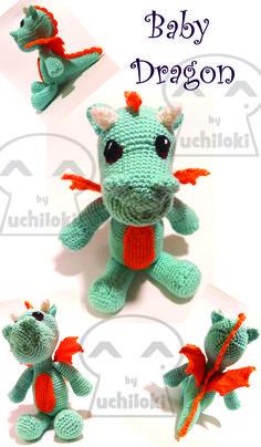 By Uchiloki: Blue Baby Dragon