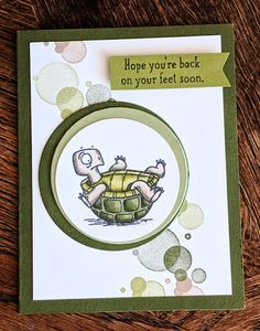 Back on Your Feet by Diana Gibson - Cards and Paper Crafts at Splitcoaststampers Stampin Up Catalog, Making Greeting Cards, Stamping Up Cards, Get Well Cards, Animal Cards, Funny Cards, Sympathy Cards, Paper Cards, Kids Cards