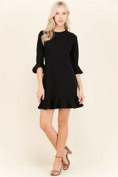 c3e7c136f520 2 Hearts Black Ruffle Dress - Alternate List Image Black Ruffle Dress,  Ruffle Sleeve Dress