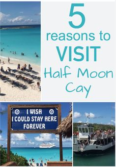 5 Reasons to Visit Half Moon Cay - #carnivalcruise #carnival #carnivalcruiseline…