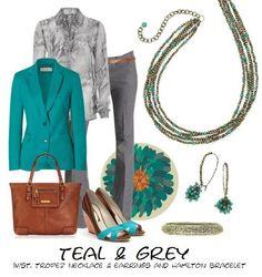 teal & grey