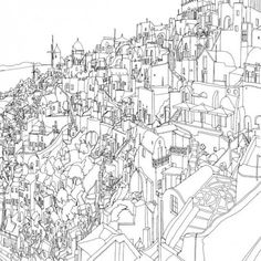 Fantastic Cities: 48-Page Urban Coloring Book Made for Adults