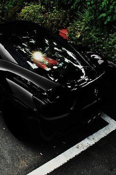 Stunning Black Ferrari 458 Italia