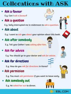 Common Collocations with ASK in English