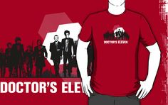 the Doctor's Eleven doctor who tees shirts, this is a fantastic design, love the concept behind this original tee