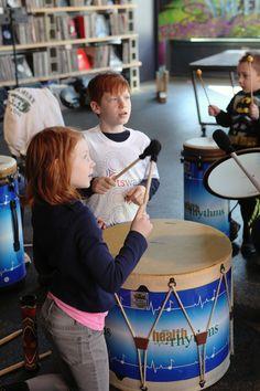 Drumming at Elementz, March 15, 2014