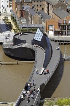 Zona-Arquitectura: River Hull Footbridge_Hull_UK #Estructura #Arquitectura