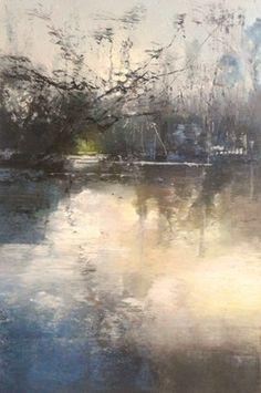 "Saatchi+Online+Artist+Claire+Wiltsher;+Painting,+""Naked+winter""+#art"