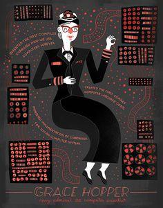 A ilustradora Rachel Ignotofsky criou desenhos que homenageiam grandes nomes de mulheres na ciência que foram importantes para a história. Confira!
