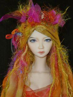 BJD  Doll Hat /Boho Fantasy Doll Hat by susanlake1 on Etsy, $115.00