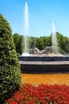 Viaja a Madrid y conoce la fuente de Neptuno en Paseo la Castellana. Disfruta de una caminata por la ciudad y vuelve a descansar a tu hotel en Madrid.