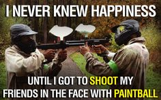When did you discover your happiness at paintball? #paintball