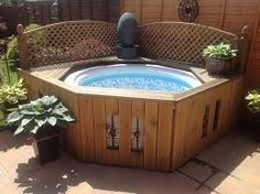 Image result for diy hot tub surround