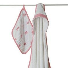 Aden + Anais Bathing Beauty Hooded Towel and Washcloth Set.