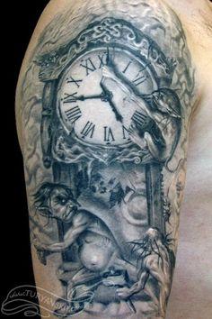 clock tattoo   Tumblr